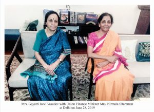 September 2019 With Nirmala Sitaraman